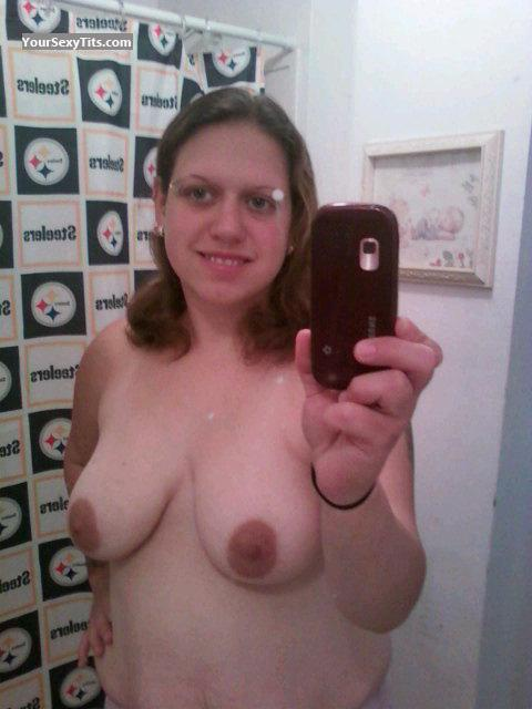 My Very big Tits Topless Selfie by Becca